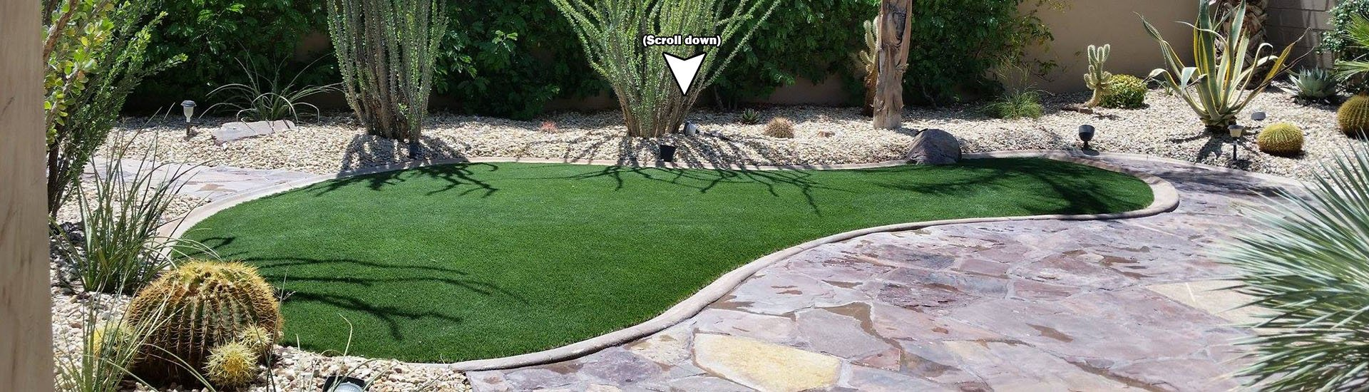 Bowling pin shaped area of artificial grass